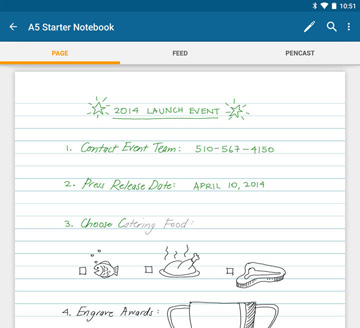 Livescribe+ – Page view