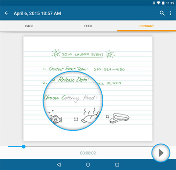 Livescribe+ – Pencasts