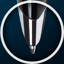 Highlight Feature 4 – Retractable Tungsten-Carbide Medium Ballpoint