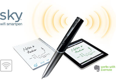 Wifi Sky Smartpen with notebook and ipad