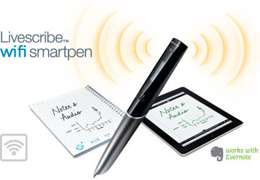 Livescribe Wifi Smartpen with notebook and ipad