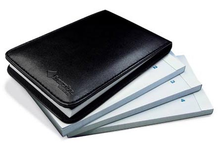 Flip Notepad, 4-Pack, Black Cover