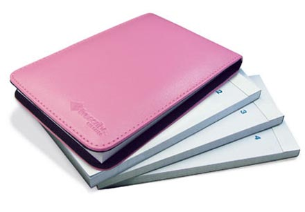 Flip Notepad, 4-Pack, Pink Cover