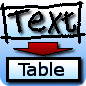 Text To Table