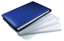 Flip Notepad, 4-Pack, Blue Cover
